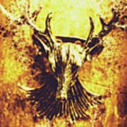 Jewel Deer Head Art Poster