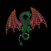 Jeweled Dragon Poster