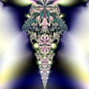 Jeweled Icicle Fractal 136 Poster