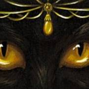 Jeweled Kitty Amber Poster