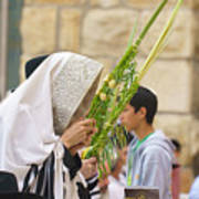 Jewish Sunrise Prayers At The Western Wall, Israel 6 Poster