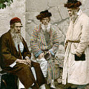Jews In Jerusalem, C1900 Poster