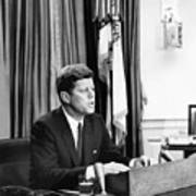 Jfk Addresses The Nation Painting Poster