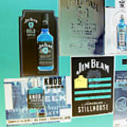 Jim Beam Signs On Display - Color Invert Poster