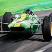 Jim Clark Lotus 25 Poster