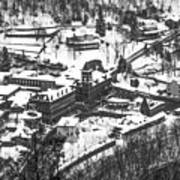 Jim Thorpe Pennsylvania In Winter In Black And White Poster