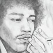 Jimi Hendrix Artwork Poster by Roly Orihuela