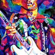 Jimi Hendrix Purple Poster by David Lloyd Glover