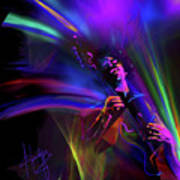Jimi Hendrix, Purple Haze Poster