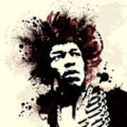 Jimi Poster by Laurence Adamson