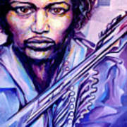 Jimi Poster by Lloyd DeBerry