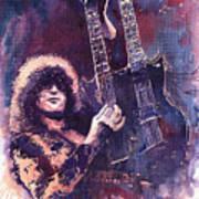 Jimmy Page  Poster by Yuriy  Shevchuk
