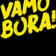 Jiu Jitsu Design Vamo Bora Yellow Light Martial Arts Poster