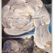 Job Confessing His Presumption To God Who Answers From The Whirlwind Poster