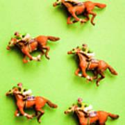 Jockeys And Horses Poster