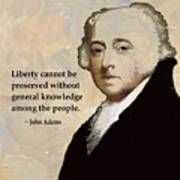 John Adams And Quote Poster