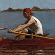 John Biglin In A Single Scull Poster