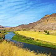 John Day River Panoramic View Poster