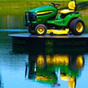 John Deere Mows The Water No 1 Poster