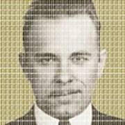 John Dillinger Mug Shot - Gold Poster