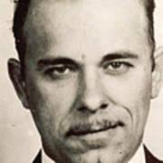 John Dillinger Mug Shot Sepia Poster