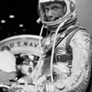 John Glenn Wearing A Space Suit Poster