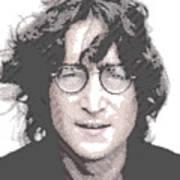 John Lennon - Parallel Hatching Poster