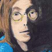 John Lennon Pastel Poster
