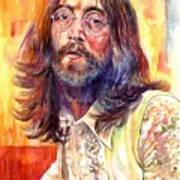John Lennon watercolor Poster