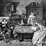 John Milton Dictating Paradise Lost Poster