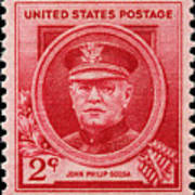 John Philip Sousa Postage Stamp Poster