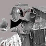 John Wayne And Director Howard Hawks  Alienated Rio Lobo Old Tucson Arizona 1970-2016 Poster