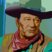 John Wayne Poster by John Keaton