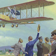 John William Alcock And Arthur Whitten Brown Who Flew Across The Atlantic Poster