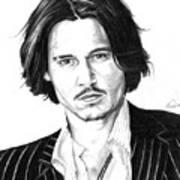 Johnny Depp Portrait Poster