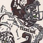 Johnny Manziel 5 Poster by Jeremiah Colley