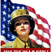 Join The Wac Now - World War Two Poster