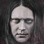 Jonas P Renkse Musician From Katatonia Band By Julia Art Poster