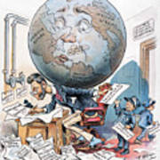 Joseph Pulitzer Cartoon Poster