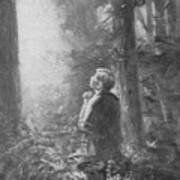 Joseph Smith Praying In The Grove Poster by Lewis A Ramsey