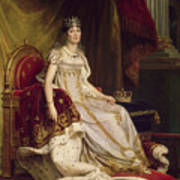 Josephine In Coronation Costume Poster