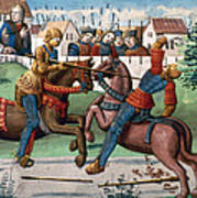 Jousting Knights, 1499 Poster