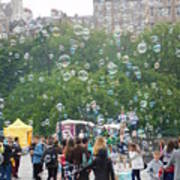 Joy Of Bubbles Poster