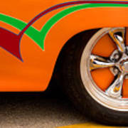 Joy Ride - Street Rod In Orange, Red, And Green Poster