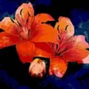 Joyful Lilies Poster