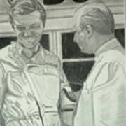 Juan Manuel Fangio And Graf Berghe Von Trips Poster