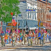 July 4th Color Guard Poster