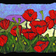 June Poppies Poster