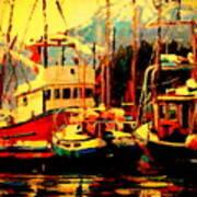 Juneau Boats Poster