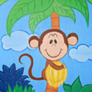 Jungle Monkey Poster